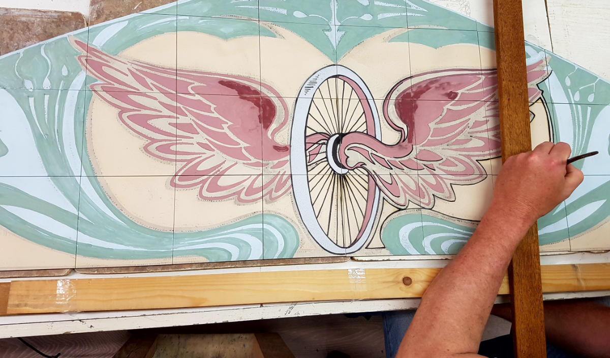 Art Deco Tegels : Hand crafted tiles harlinger aardewerk en tegelfabriek